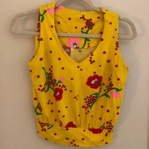 Vintage yellow top